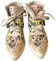 Coach Pale Pink Printed Studded High Top Sneakers Size US 8 Regular (M, B) Coach Pale Pink Printed Studded High Top Sneakers Size US 8 Regular (M, B) Image 1