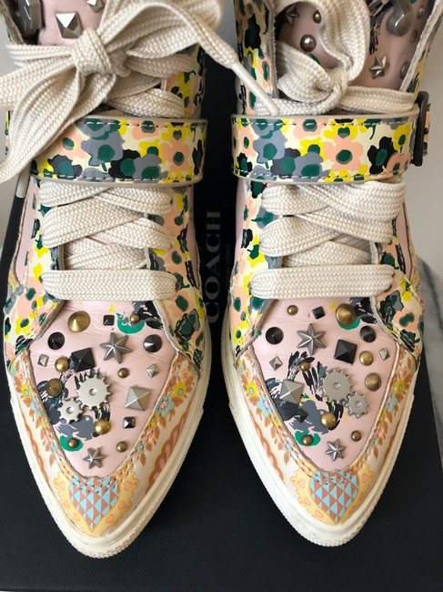 Coach Pale Pink Printed Studded High Top Sneakers Size US 8 Regular (M, B) Coach Pale Pink Printed Studded High Top Sneakers Size US 8 Regular (M, B) Image 11