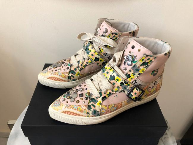 Coach Pale Pink Printed Studded High Top Sneakers Size US 8 Regular (M, B) Coach Pale Pink Printed Studded High Top Sneakers Size US 8 Regular (M, B) Image 5