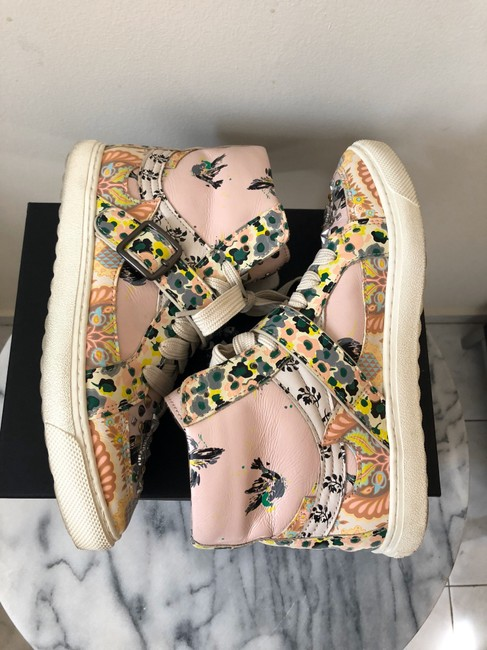 Coach Pale Pink Printed Studded High Top Sneakers Size US 8 Regular (M, B) Coach Pale Pink Printed Studded High Top Sneakers Size US 8 Regular (M, B) Image 7