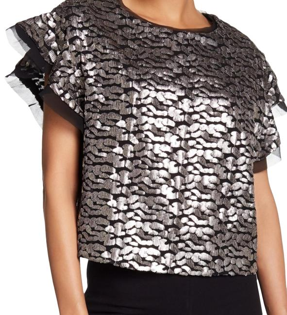 Item - Wm16deven Black and Silver Top