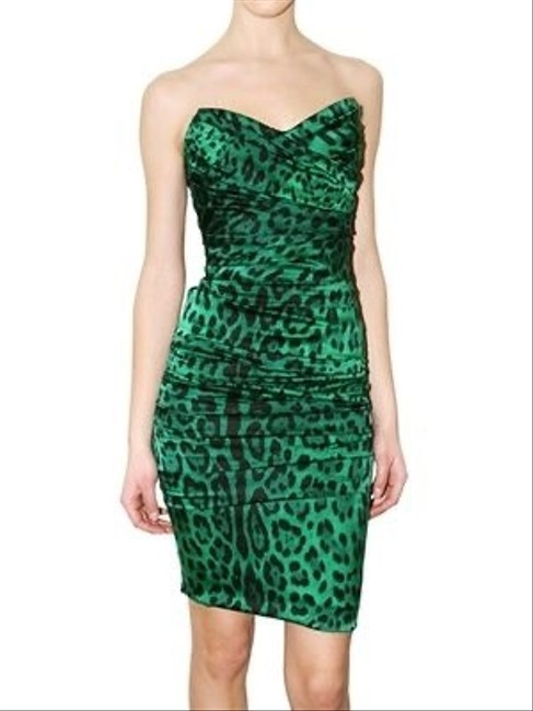 Item - Black and White Leopard Print Strapless Stretch Silk Mini Short Night Out Dress Size 6 (S)