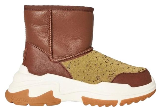 Item - Brown/Gold Cosy X Short Boots/Booties Size US 9 Regular (M, B)