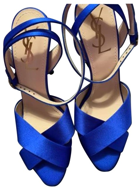 Item - Blue Eva 105 Anklestrap Pumps Size EU 37.5 (Approx. US 7.5) Regular (M, B)