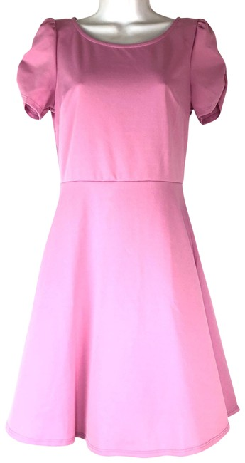 Item - Pink Sleeve Easter Skater Short Casual Dress Size 6 (S)