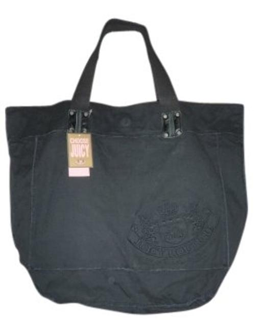 Juicy Couture Bag Girl It Black Canvas Tote Juicy Couture Bag Girl It Black Canvas Tote Image 1