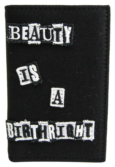 Item - Black / Red Color / White Ny0p0576bll Canvas Card Case Wallet