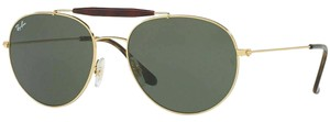Ray-Ban Crystal Green Lens Rb3540 001 Unisex Aviator