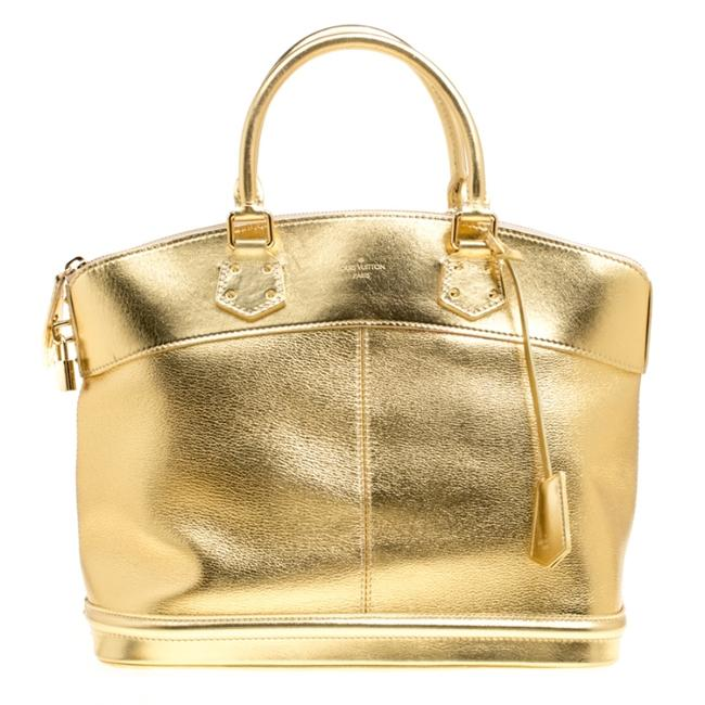 Item - Lockit Suhali Mm Gold Leather Tote