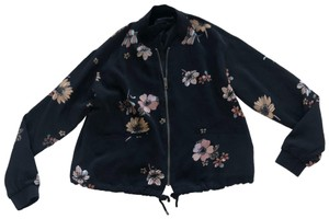 W3 by Who What Wear Black and Floral Blazer