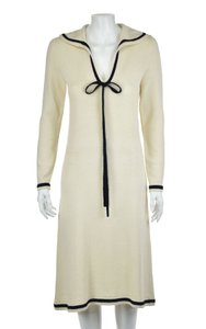 Adolfo short dress Ivory Sheath Knit Vintage on Tradesy