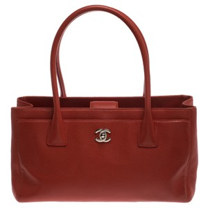 Chanel Leather Executive Tote in Orange