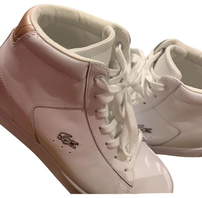Item - White & Rose Gold Accent Sneakers Size US 6 Regular (M, B)