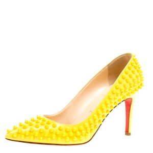 Christian Louboutin Patent Leather Leather Yellow Pumps