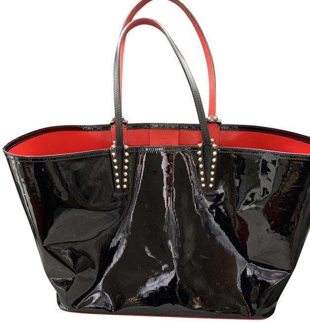 Item - Cabata Black and Red Patent Leather Tote