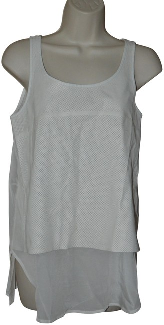 Item - White XS Leather Front Sleeveless Blouse Size 2 (XS)