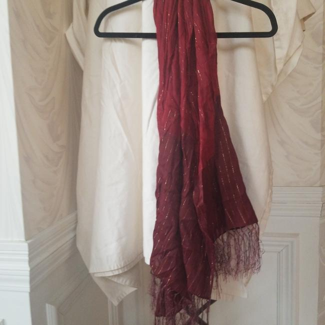 Unbranded Red Gold Shimmer Detail Scarf/Wrap Unbranded Red Gold Shimmer Detail Scarf/Wrap Image 1