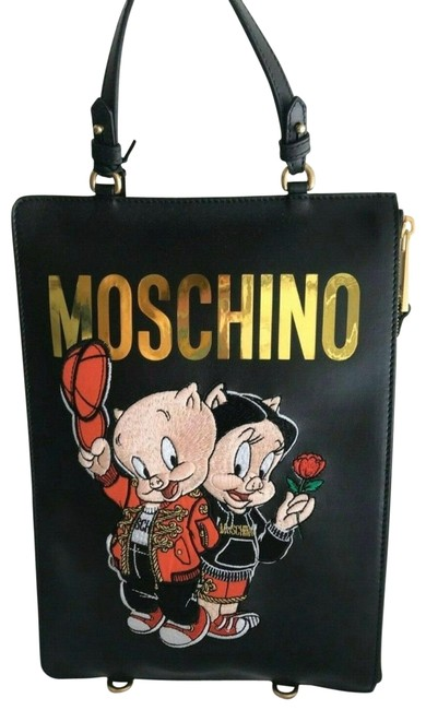 Moschino Backpack Special Edition Couture Jeremy Scott Porky Pig Petunia Pig Multicolor Multi Tote Moschino Backpack Special Edition Couture Jeremy Scott Porky Pig Petunia Pig Multicolor Multi Tote Image 1