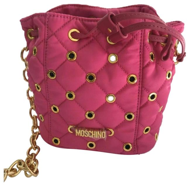Item - Bucket Ss16 Couture Jeremy Scott Fuchsia Nylon and Leather Quilted Hobo Bag