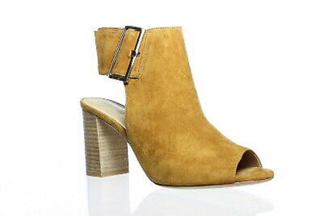 Item - Gold Womens Bisa Cuoio Suede/Gold Buckle Open Toe Heels Boots/Booties Size US 7.5 Regular (M, B)