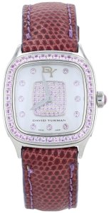 David Yurman David Yurman Thoroughbred Watch Steel Leather T304XS Pink Sapphire