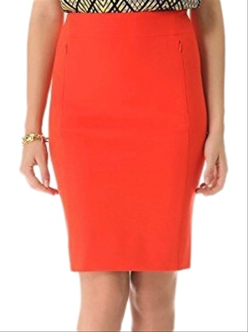 Item - Orange Pencil Skirt Size 8 (M, 29, 30)