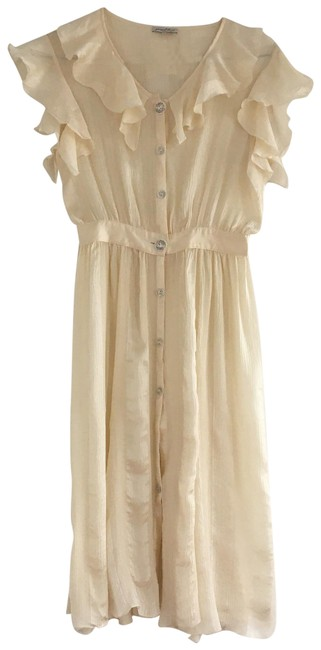 Item - Cream Fit & Flare Mid-length Cocktail Dress Size 2 (XS)