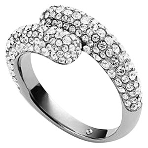 Michael Kors Michael Kors Clear Pave Brilliance Bypass Ring Size 6
