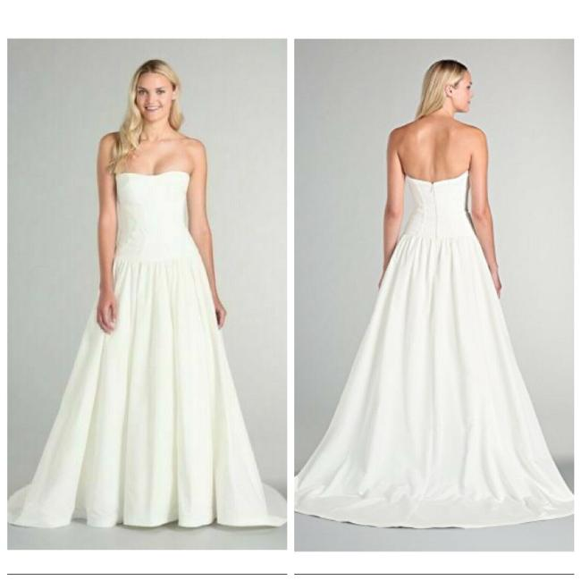 Item - Ivory White Laurel Sweetheart Neck Ball Gown Sil Traditional Wedding Dress Size 8 (M)
