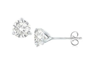 LoveBrightJewelry White Sterling Silver Martini Style Cubic Zirconia Stud with 1.00 Ct Tgw Earrings