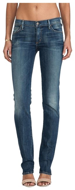 Item - Blue Dark Rinse Revolve Coh Low Wash Straight Leg Jeans Size 0 (XS, 25)