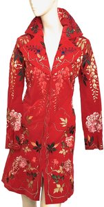 BIYA Velvet RED EMBROIDERED Jacket