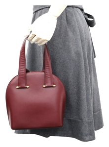 Cartier Hand Must Leather Stock01590 Tote in Wine