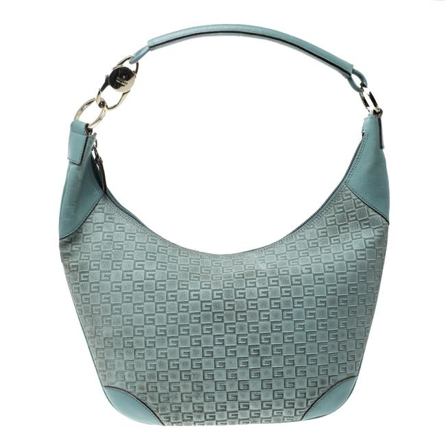 Item - Dusty Square G Green Leather and Suede Hobo Bag