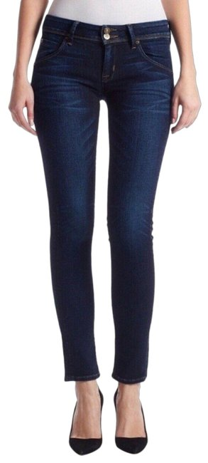 Item - Blue Dark Rinse Collin Flap Pocket Skinny Jeans Size 4 (S, 27)