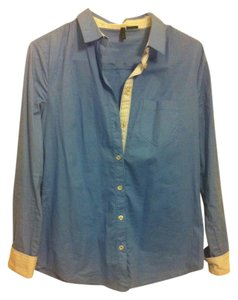 United Colors of Benetton Buttonup Shirt Buttondown Button Down Shirt Blue