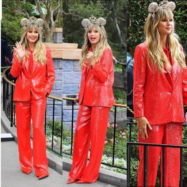 Item - Red Sequin Blazers + Co-ord Set Pant Suit Size 4 (S)
