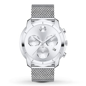 Movado Stainless Steel Mesh Bold Chronograph Mens 3600371