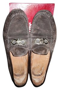 Salvatore Ferragamo Designer Loafers Brown Flats