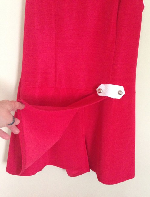 Vintage short dress cherry red Skort Decked Out 70s Playsuit Romper Mod on Tradesy