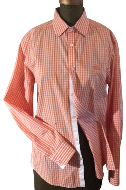 Item - Orange and White Checked.