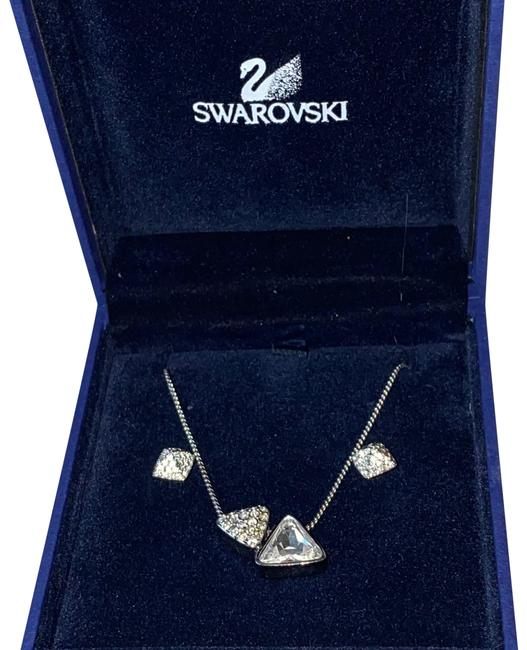 Item - Silver New Crystal Square and Earring Necklace