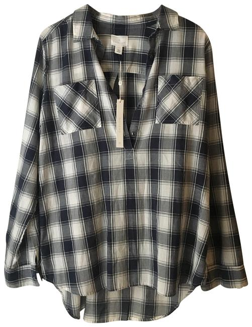 Item - Blue Button-down Top Size 12 (L)