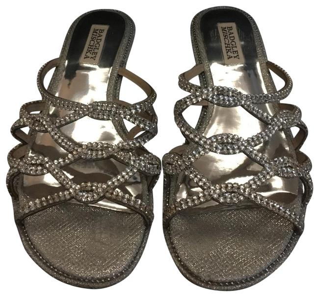 Item - Silver Sofie Strappy Sandals Size US 8.5 Regular (M, B)