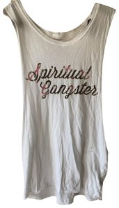 Spiritual Gangster Top white, pink, green, black