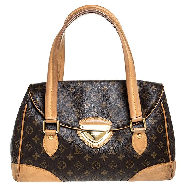Louis Vuitton Beverly Monogram Gm Brown Coated Canvas Satchel Louis Vuitton Beverly Monogram Gm Brown Coated Canvas Satchel Image 1