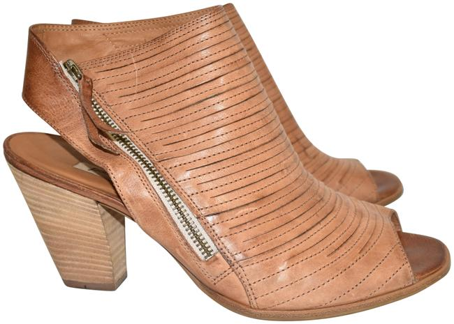Item - Cuoio Brown Cayanne Leather Peep Toe Bootie Boot (B25 Sandals Size US 10.5 Regular (M, B)