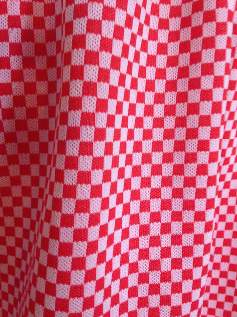 Other short dress red & white checked Hand-crafted & Midi Vintage on Tradesy