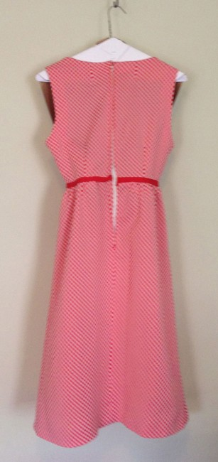 Other short dress red & white checked Hand-crafted Midi Vintage on Tradesy