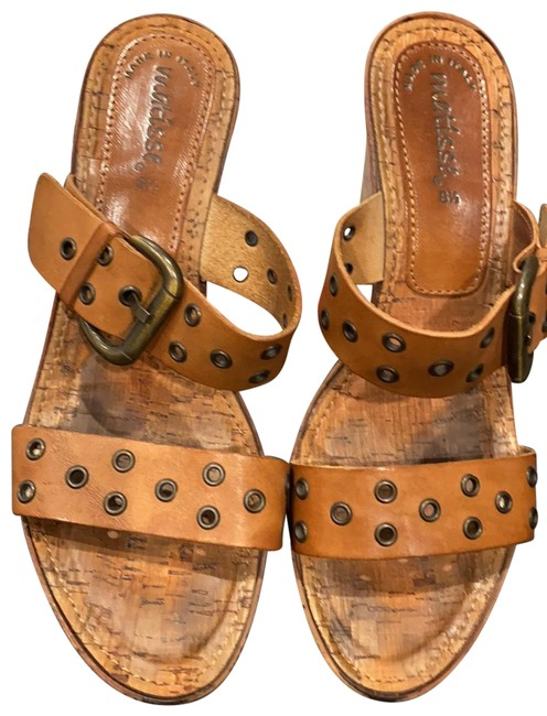 Matisse Brown Cork and Leather Wedge Sandals Size US 8.5 Regular (M, B) Matisse Brown Cork and Leather Wedge Sandals Size US 8.5 Regular (M, B) Image 1